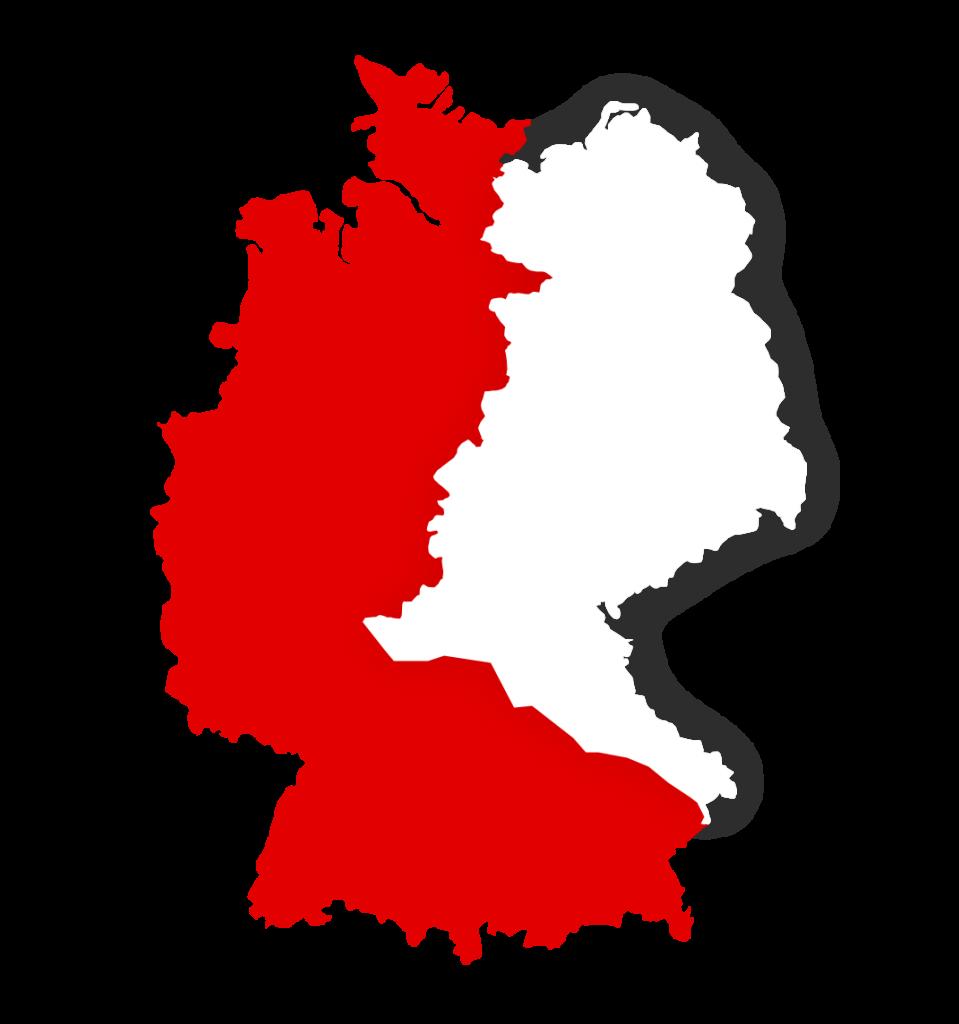 Deutschlandkarte Vertriebsgebiet
