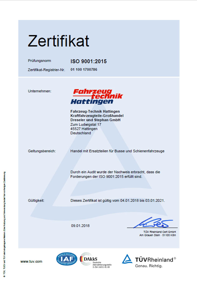 Zertifikat SFTH