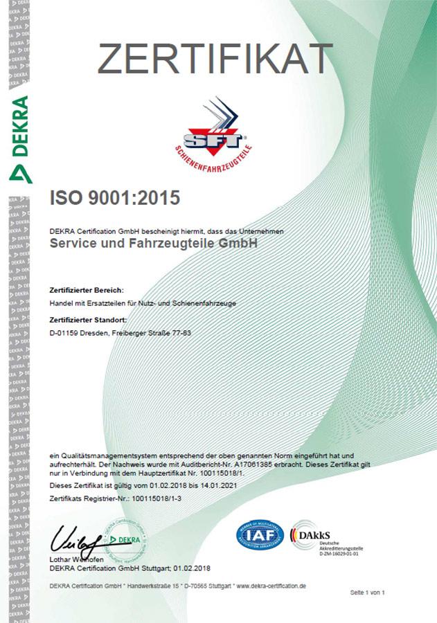 Zertifikat SFT